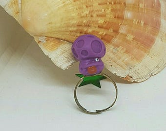 Little purple character ring