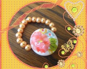 Ring beads elastic