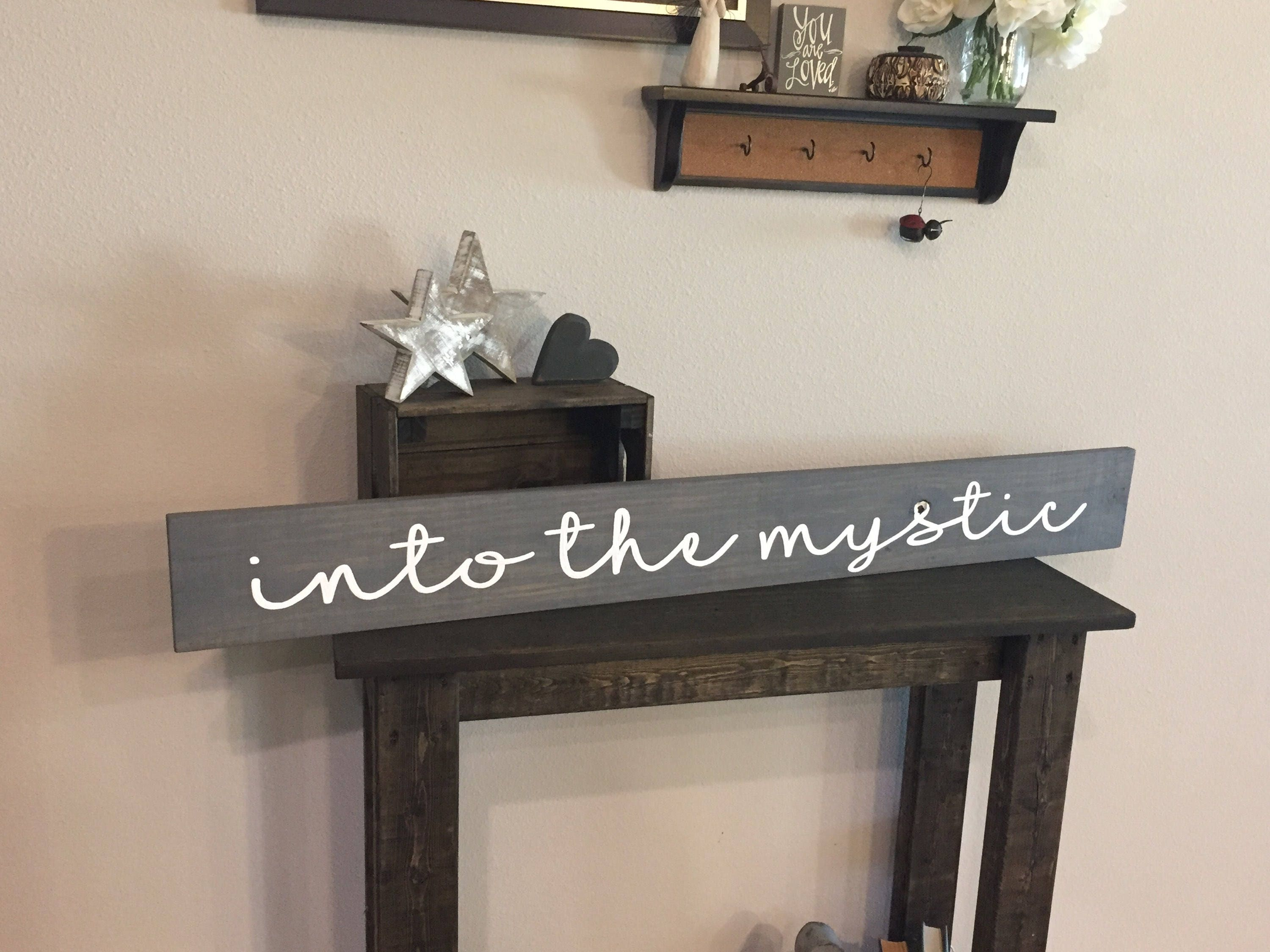 Pallet Into The Mystic Sign 55x48 Song Lyrics Cabin Love Family