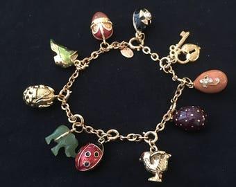 Joan Rivers Egg Charm Bracelet