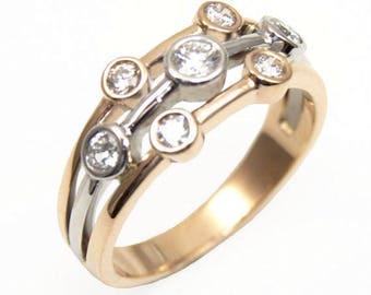 35f990d7efc335 Raindance Ring .55ct Diamond Scatter Ring 18ct Rose & White Gold