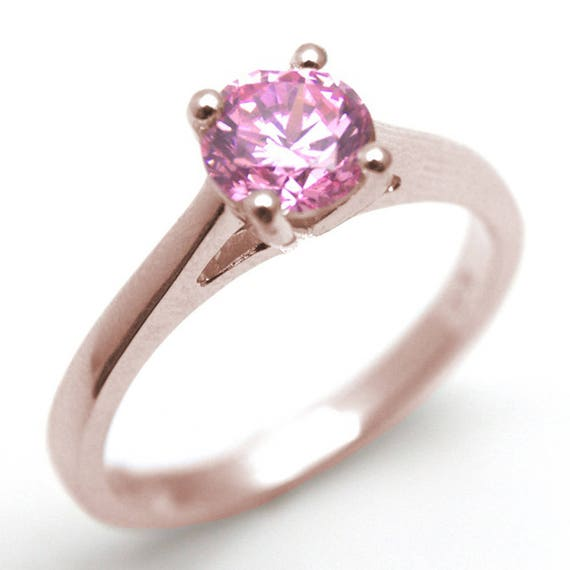 SS216RU Trinity Knot Ring 1ct Ruby Diamond-Unique 9ct Rose Gold