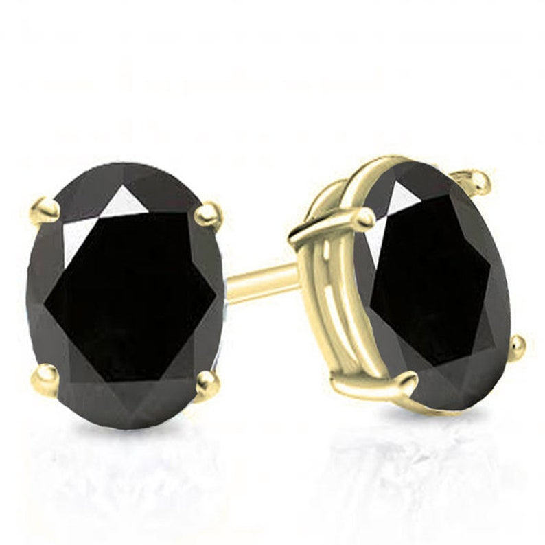 Stud Earrings Sapphire Oval 4 Claw Set 9ct Gold