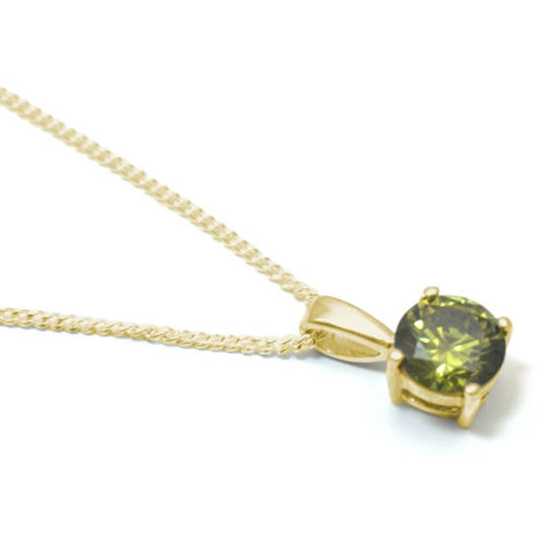 """9ct Gold Opal Teardrop Pendant Necklace and 18/"""" chain Made in UK Gift Boxed"""