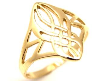 9ct Gold Celtic Ring Handmade in UK (CE5)