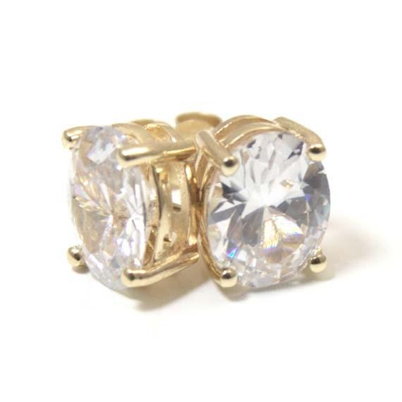 Stone Set Dropper 9ct Gold Upper Ear  Helix Cartilage Earring