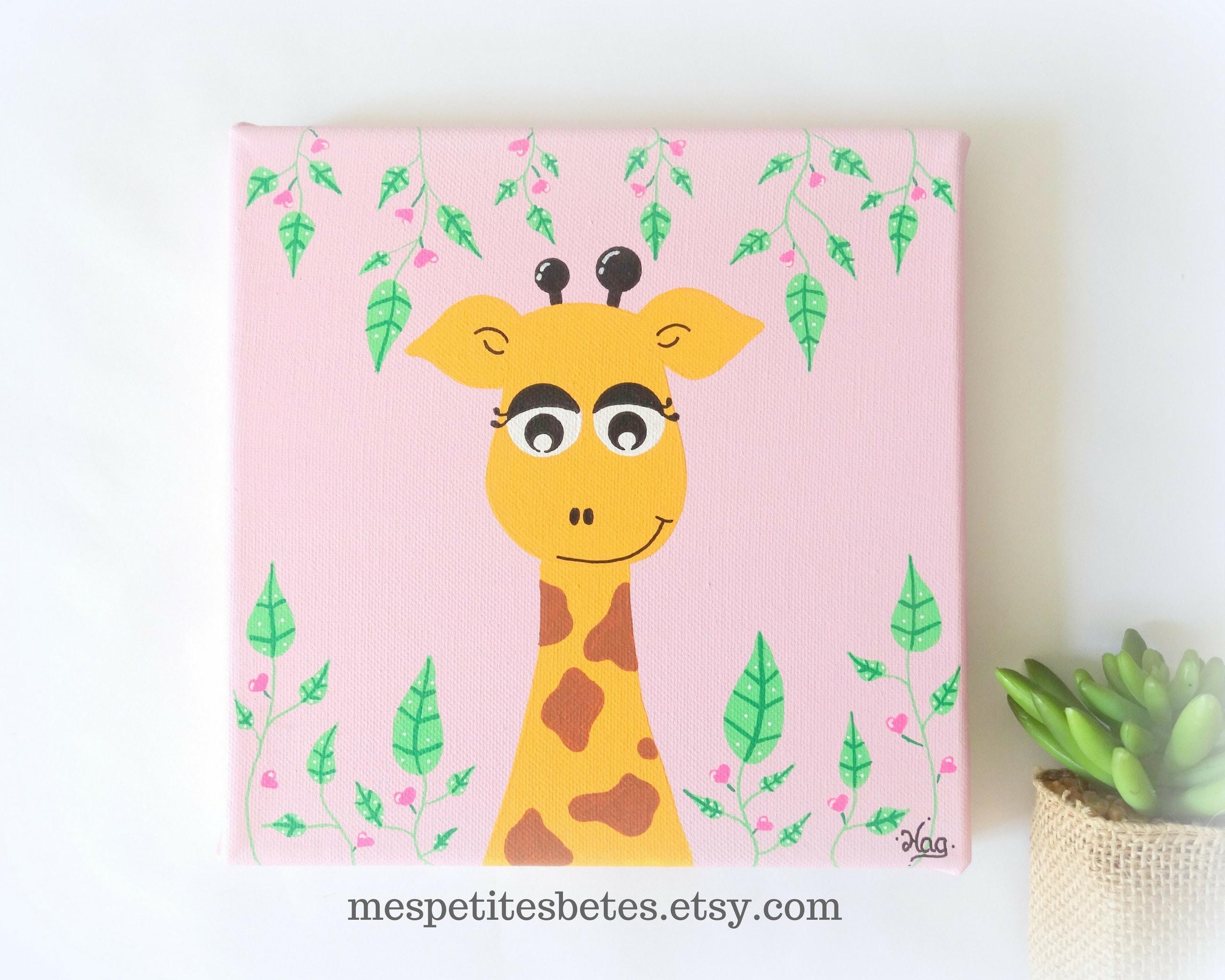 tableau pour chambre bebe tableau chambre b b fille tableau girafe pour chambre etsy