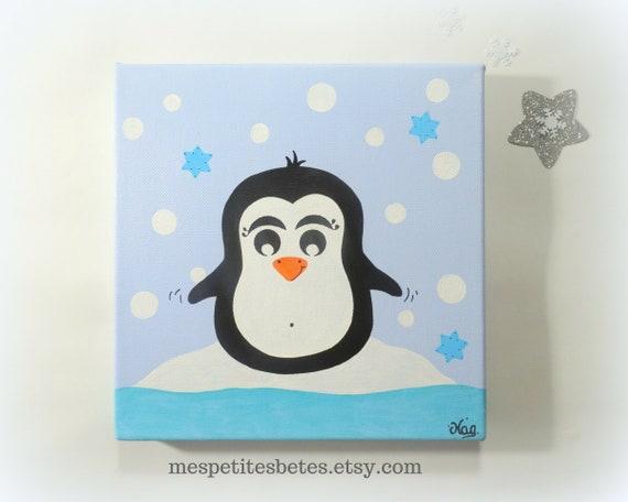 Tabel kid tabel penguin kamer illustratie kamer baby deco etsy