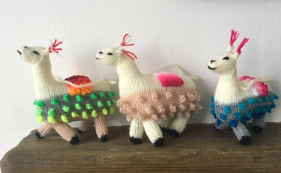 Llama Christmas Decorations.Llama Alpaca Decoration Hand Knitted Llama Christmas Decorations Alpaca Ornament