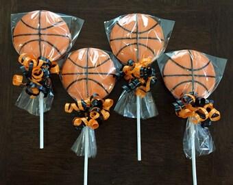 Basketball Chocolate Lollipop
