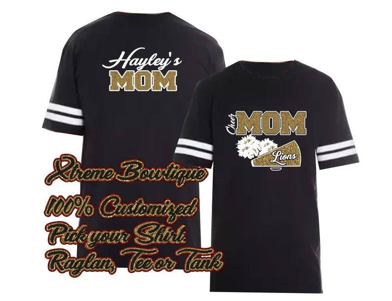 cb63a23aa Cheer Shirt Cheer Mom Shirt Cheer Football Jersey Bling