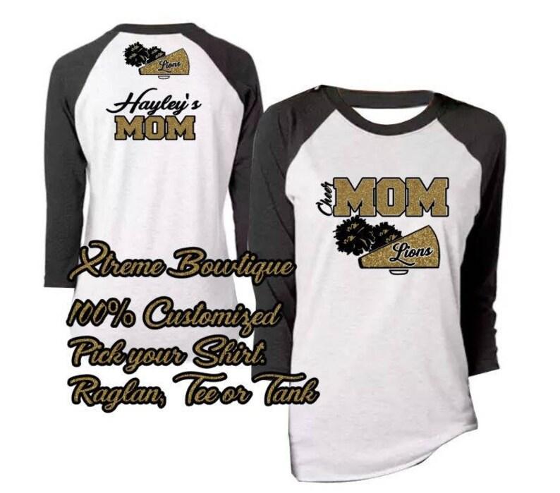 73850c41835 Custom Cheer Mom Shirt Cheer Mom TShirt Cheer Mom Shirt