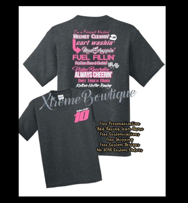 083831452 Custom Racing Shirt Racing Shirts Dirt Racing Shirts   Etsy