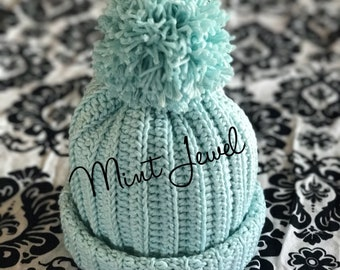 Mint Jewel beanie 0-6 months
