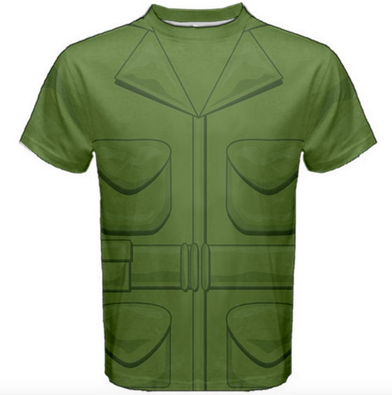 3fb2963f5a9 Green Army Man Inspired Adult Costume Shirt