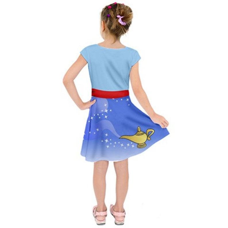 Genie Inspired Girls Short Sleeve Dress