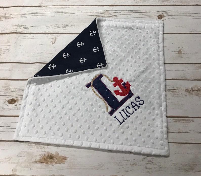 Personalized Lovey Nautical Lovey Nautical Anchor Lovey Nautical Theme Nautical Nursery Anchor Lovey