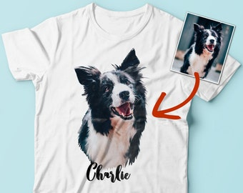 ce9e4cd71dac Dog Cat Mom Dad T-shirt Personalized Pet Gift Custom Photo Clothing Pet  Painting Shirt Customized Dog Lover Gift Sale + Free Shipping