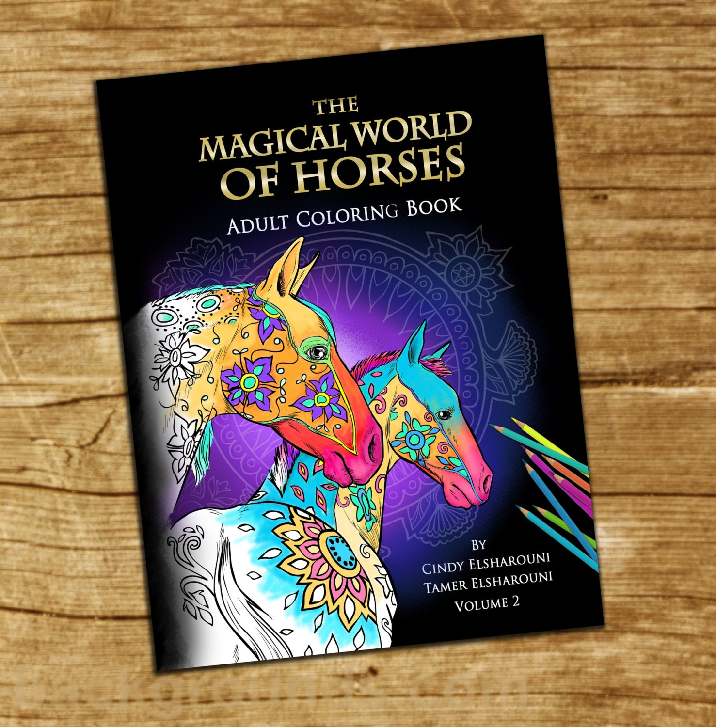Adult Coloring Book Horses. 18 Beautifully Drawn Coloring Pages. On Sale