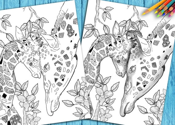 Animal Color Book Adult Coloring Book Page from Coloring Book | Etsy
