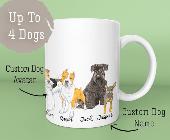 Personalized Dog CoffeeMug Lover Gift Under 30 Owner