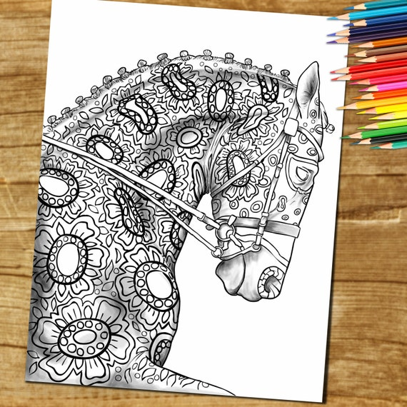 Animal Color BookAdult Coloring Book Page from Coloring Book | Etsy