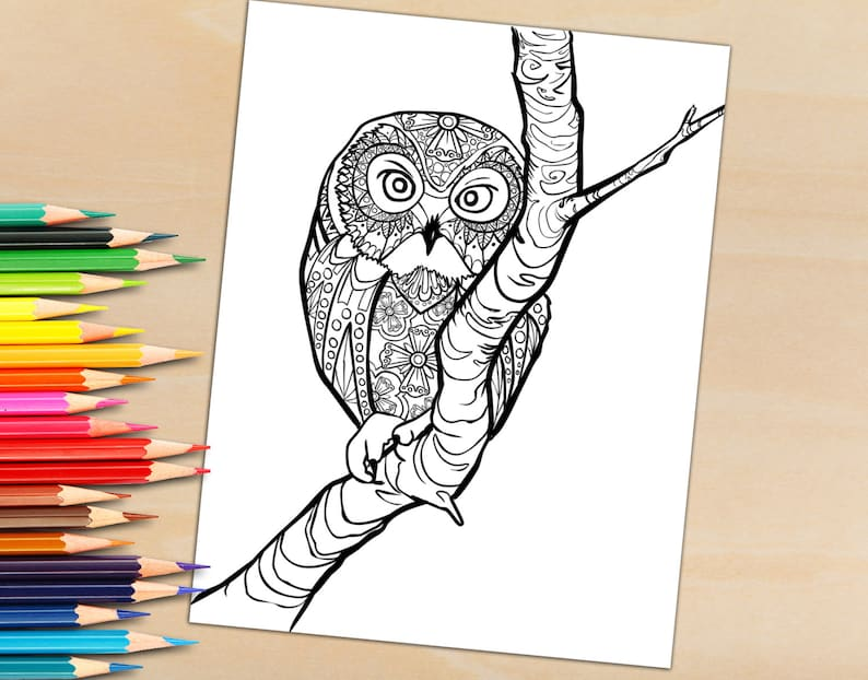 Download Grown Up Adult Coloring Book Page from Coloring Book image 0
