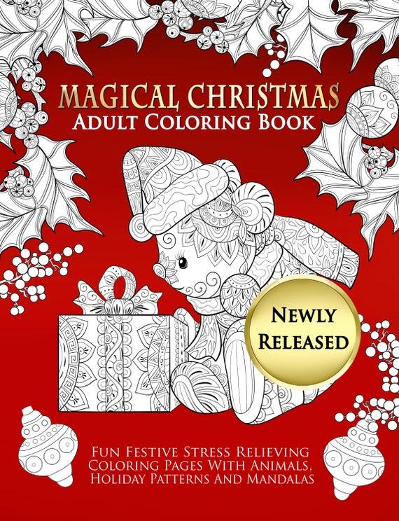 - Christmas Adult Coloring Book PDF Printable Children Teens Etsy