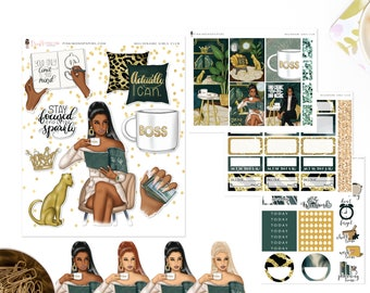 Millionaire Girls Club - Mini Sticker Kit, Planner Sticker Kit | Diverse Options Offered | Fashion Stickers