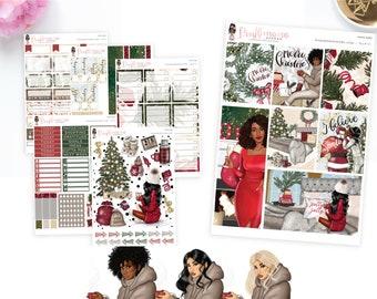 Santa Baby - Weekly Sticker Kit, ECLP Sticker Kit, ECPP Sticker Kit, HP Sticker Kit | Diverse Options Offered | Fall Stickers