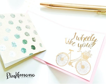 Lil Notes - Set of 5 Mini Note Cards   Lunch Box Notes   Care Package Note   Love Note   Foiled