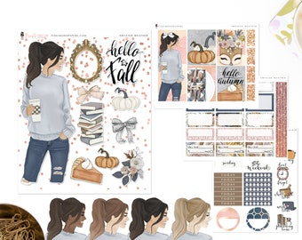 Sweater Weather - Mini Sticker Kit, Planner Sticker Kit | Diverse Options Offered | Fall Stickers