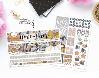 Sweater Weather - Monthly Sticker Kit, ECLP Monthly Kit, ECPP Monthly Kit, HP Classic Monthly Kit, Happy Planner Mini Monthly Kit
