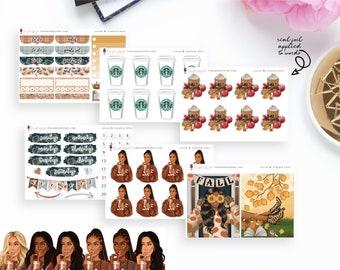Sugar & Pumpkin Spice - Add-On Sticker Kits | Planner Sticker Kit