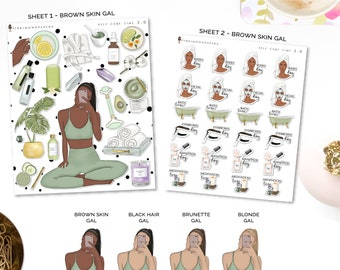 Self Care 2.0 To Do's - Planner Sticker Kit | Diverse Options Offered | Self Care stickers | To Do Stickers