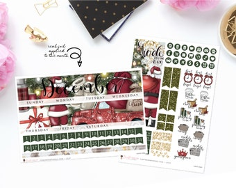 Santa Baby - Monthly Sticker Kit, ECLP Monthly Kit, ECPP Monthly Kit, HP Classic Monthly Kit, Happy Planner Mini Monthly Kit
