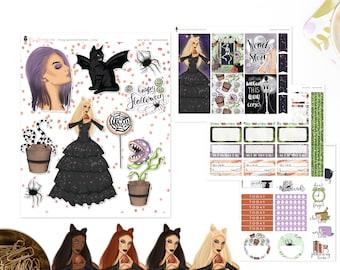 Wicked Wonders - Mini Sticker Kit, Planner Sticker Kit | Diverse Options Offered | Halloween Stickers