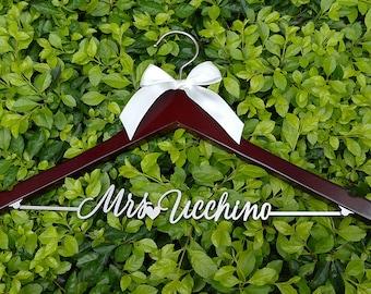 Wedding Dress Hanger, Personalized Wedding Hanger, Bridal Hanger, Wedding Photography, Bridal Shower Gift, Engagement Party, VTP0015