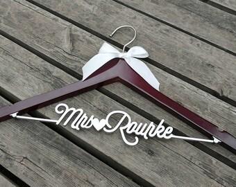 Clothing Gift, Personalized Wedding Hanger, Bridal Hanger, Perfect for Bridal Party,  Bridesmaid Dress Hanger, Bridal Shower Gift VTP0014