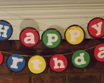 Happy Birthday Banner Multi colors
