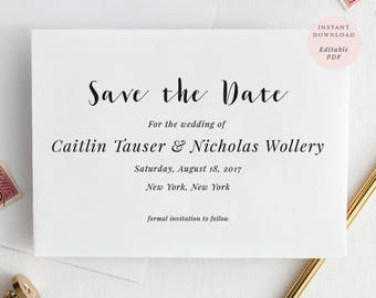 Save The Date Rustic Etsy - Hold the date templates