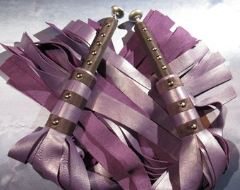 Purple Leather Floggers - Matching pair - Mature