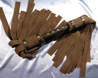 Florentine Flogger - Brown Textured Suede - Mature