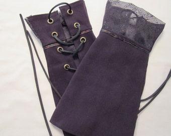 Fingerless Gauntlets (Gloves)- Brown
