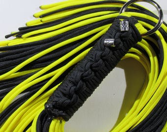 Paracord Flogger - Neon Yellow and Black - Mature