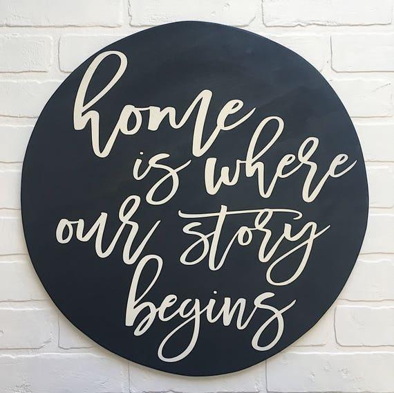 La maison est où notre histoire commence
