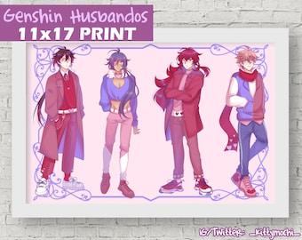 Genshin Impact Husbando Print