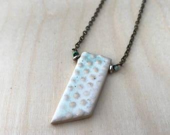 Ceramic Pendant Necklace || stoneware