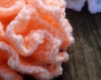 Ruffle flower crochet PATTERN, crochet flower pattern PDF, 3d flowers, flower PDF pattern, crochet pattern flower OlgaAndrewDesigns003