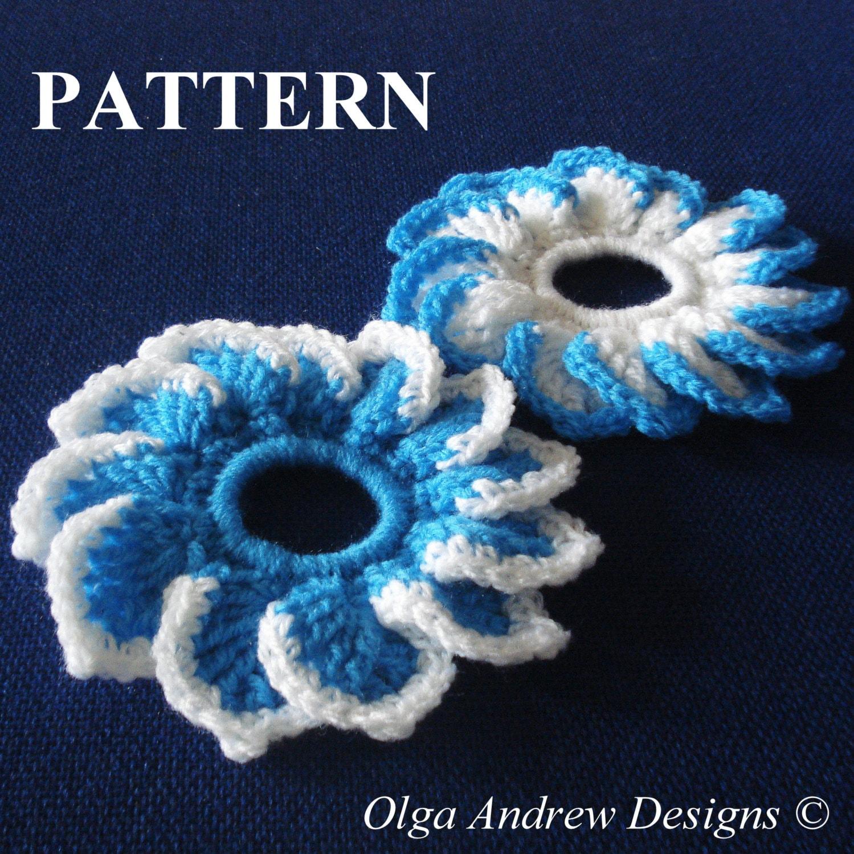 Flower scrunchie crochet pattern scrunchie crochet hair
